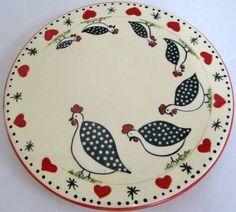 Serves as a rest for olive oil and spices. discount for payments made Pottery Painting, Ceramic Painting, Stone Painting, Ceramic Art, Ceramic Birds, Ceramic Plates, Ceramic Pottery, Decorative Plates, Painted Plates