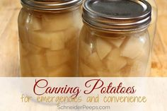 Canning potatoes at home is a great way to preserve the harvest and have food for emergencies and convenience. Leanr how to make canned potatoes today. Canning Pressure Cooker, Pressure Cooker Chicken, Pressure Cooker Recipes, Home Canning Recipes, Canning Tips, Canning Food Preservation, Preserving Food, Canning Potatoes, Chicken Home