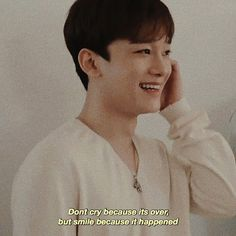 K Quotes, Fact Quotes, Exo Facts, Exo Lockscreen, Exo Chen, Kyungsoo, Chanyeol, Aesthetic Words, Smile Because