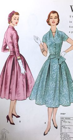 1950's Butterick dress pattern. From our archives.