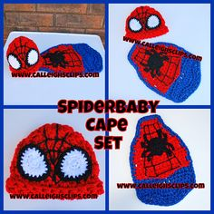 Spiderbaby Cuddle Cape Set pattern by Elisabeth Spivey $5.95