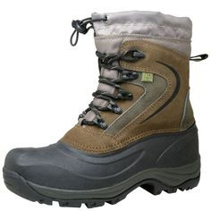 This tough Rugged Outback boot is built to weather any storm with features such as a quality leather and waterproof rubber upper, sturdy lace-up construction, an elastic draw-string collar and thick Thermolite lining to keep out the elements, a plush, lightly padded insole and flexible lug outsole to keep your footing. Special features allow feet to stay warm in temperatures as low as -22ºF (-30ºC). Leather and manmade materials.
