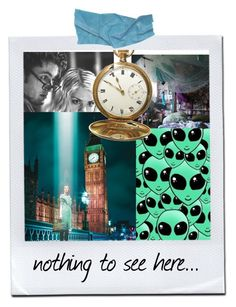 """//nothing to see here//"" by wibbly-wobbly-timey-wimey-dork ❤ liked on Polyvore featuring art"