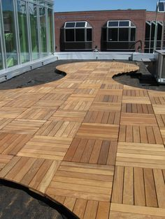 Bison wood deck tiles | Installs in a breeze | DeckExpressions