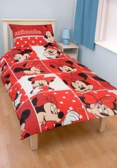 Disney Minnie Mouse 'Montage' Rotary Single Bed Duvet Quilt Cover Set New Gift