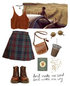 """""""Untitled #1125"""" by blvckcreature ❤ liked on Polyvore featuring Dr. Martens and Coach"""
