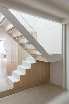 modern terraced house renovation delicately detailed steel stair