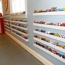 12 Clever Toy Storage and Organization Hacks ... Toy cars on a  ledge shelf storage and display solution ... Brilliant!