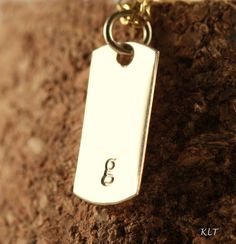 Simplicity in Gold Filled  5/8 inch Hand Stamped by jenerijewelry, $78.00