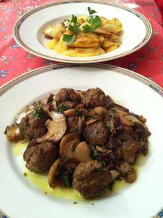 Polpettine di Carne con Funghi Porcini - Kufteh ba Gharch