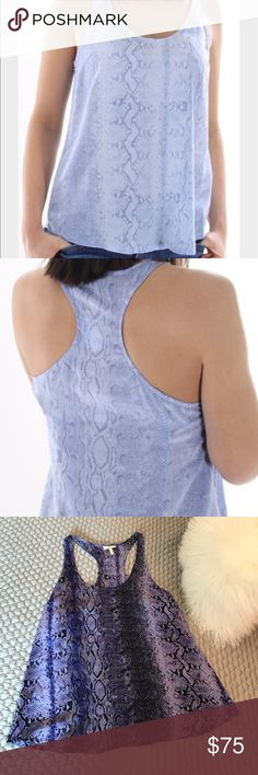 Joie Drew C Tank in Blue Snake Print! First two photos to show fit. Tank is as pictured in photos three and four. So chic for summer and in mint condition. Hardly worn. Joie Tops Tank Tops