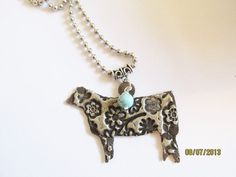 FFA 4H Show Heifer necklace by Ataggirlcreations on Etsy, $22.00- WANT A DAIRY ONEE
