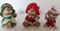 Homco Home Interior Bear Figurines 5600 Porcelain #PandRThisNThat