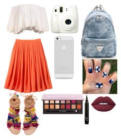 """""""Summer walks."""" by kittykitty-lizy on Polyvore featuring Fuji, Elina Linardaki, Anastasia Beverly Hills and Lime Crime"""