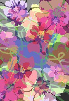 by Pamela Gatens Textile Pattern Design, Textile Patterns, Textile Prints, Pattern Paper, Pattern Art, Textiles, Print Patterns, Floral Patterns, Art Prints