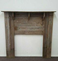 "From an estate is a nice antique barnwood constructed primitive style fireplace mantle. Wood is off an old barn from of an early 1900's homestead, still see the old nail holes and aged appearance. Great for Texas rustic home or cabin. Era or Time Period: Wood Early 1900's Color: Aged Natural Wood Size Dimensions: 61"" tall x 62"" wide Manufacturer: Hand MAde Unknown"