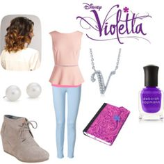 Designer Clothes, Shoes & Bags for Women Violetta Outfits, Violetta Disney, School Outfits, New Outfits, Fashion Outfits, Ariana Grande Outfits, Design Lab, Girl Fashion, Womens Fashion