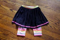 skirt with built-in bike shorts or leggings - and several other skirt tutorials