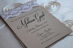 Burlap & Lace Bridal Shower Invitation