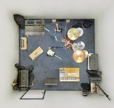 rehearsal room, picture taken from the roof by menno aden