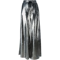 McQ Alexander McQueen paillettes palazzo pants ($810) ❤ liked on Polyvore featuring pants, metallic, high waisted wide leg trousers, wide-leg pants, high waisted pants, drawstring pants and high-waisted wide leg pants
