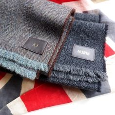 Personalised Initials on a Lambswool Scarf