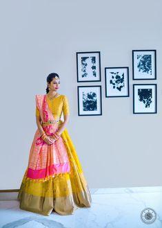 Want to look traditional but classy? Find latest Banarasi Lehenga Designs for weddings. Best Banarasi Lehengas of 2020 you cannot afford to miss. Half Saree Lehenga, Banarasi Lehenga, Lehnga Dress, Bridal Lehenga, Sari, Brocade Dresses, Anarkali, Silk Sarees, Half Saree Designs