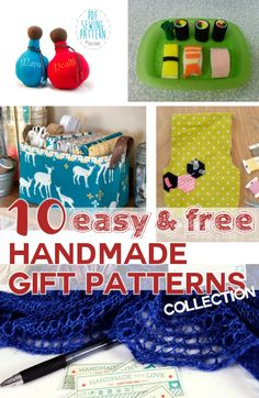 Repin this before it's Christmas! 10 easy, CUTE &  free handmade gift PDF sewing patterns collection // by SergerPepper.com only for Cfatsy Blog