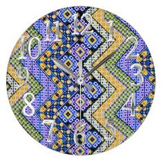 "Title : 301, Boho-Chic, Bohemian, Hippie, Purple Chevron Large Clock  Description : Fabric, Textile, Trendy, Stylish, Elegant, Colorful, ""Home-Accents"", ""Home-Décor"", Contemporary, Modern, Vintage, ""Fine-Art"", ""Tribal-Patterns"", Luxurious, ""Custom-Designs"", ""Pattern-Prints, Boho, Bohemian, Ikat, Kilim, Poplin, """"Boho-Chic"", ""Hippie-Patterns"", Morocco, Psychedelic, ""Hobo-Grunge"", ""Bold-Patterns"", Vibrant, ""Parisian-Fashion, ""Retro-Hippie"", ""Floral-Lace"", "" Teen-Designs"", ""For-Her"", Gifts…"