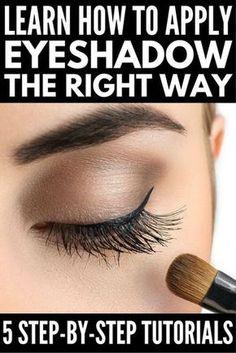 Beginner Eyeshadow, Eyeshadow Tutorial For Beginners, Eyeshadow Step By Step, How To Apply Eyeshadow, Eye Tutorial, Makeup For Beginners, Applying Eyeshadow, Apply Eyeliner, Simple Eyeshadow Tutorial