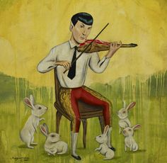 Sergio Mora | ArtisticMoods.com Who knew Mr Spock was a violin playing Matador.... Who loves Bunnies!