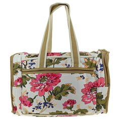 Quilted Print Travel Bag with Waterproof Lining and 3 Pockets - Perfect for Shopping -- Click image for more details.