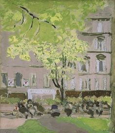 Edouard Vuillard  women on benches in the square