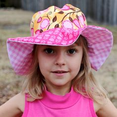 0c98d8f5fe3 Little girl s sun hat wide brimmed uv protection by littlebabybat Cute Sun