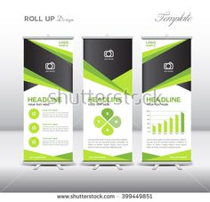 Gold and black Roll Up Banner template vector illustration,polygon ...