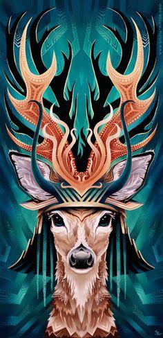 Colorful Digital Illustrations of Animals