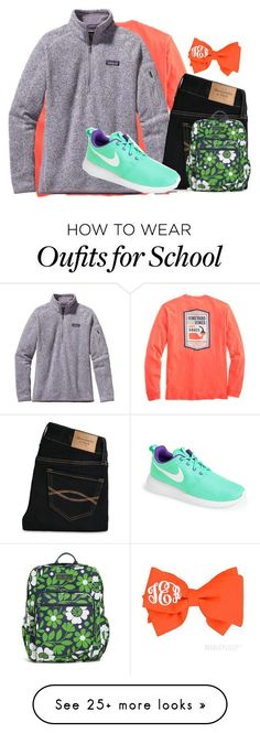 Patagonia, Abercrombie & Fitch, Vera Bradley and NIKE Adrette Outfits, Style Outfits, Preppy Outfits, School Outfits, Style Clothes, Fashion Outfits, Vera Bradley, New York Fashion, Teen Fashion