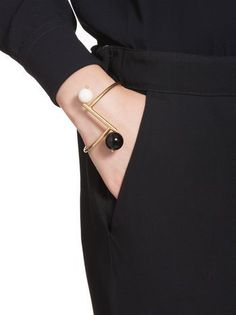 Bracelet in gilded metal and resin