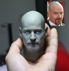 Concept Modeling For Easy Clay Sculptures: – Picture : – Description Walter white -Read More – Easy Clay Sculptures, Sculpture Clay, Sculpting Tutorials, Modelos 3d, Walter White, Ball Jointed Dolls, Custom Art, Clay Art, Action Figures