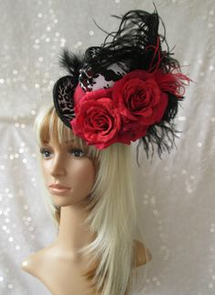 Queen of Hearts Mini Top Hat Red Queen Mini Top Hat by ChikiBird