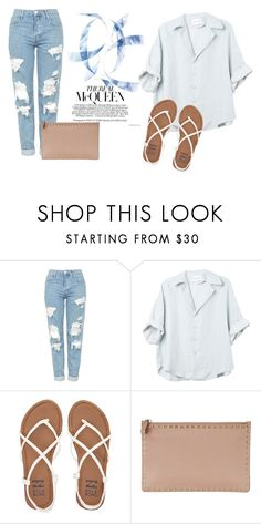 """""""Beach"""" by yixingunicorn ❤ liked on Polyvore featuring Topshop, Billabong and Valentino"""
