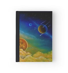 Hardcover Journal, stationery,school,supplies,cool,unique,fancy,trendy,awesome,beautiful,design,unusual,modern,artistic,for sale,items,products,office,organisation, colorful,blue,space,planets,universe,redbubble