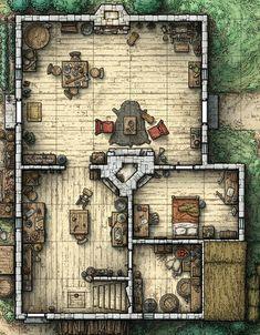 Rpg D&d Cottage Map
