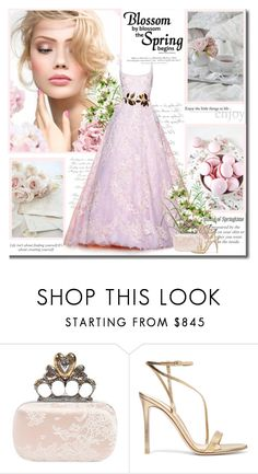 """""""Dreaming of springtime!!"""" by lilly-2711 ❤ liked on Polyvore featuring H&M, Zuhair Murad, Alexander McQueen, Gianvito Rossi, Spring, AlexanderMcQueen, ZuhairMurad and GianvitoRossi"""