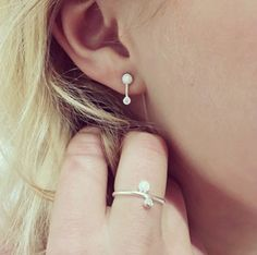 Opal and Diamond Sirius Earrings and Ring by Pernille Corydon