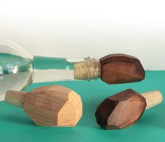 Hand Carved Wine Stoppers