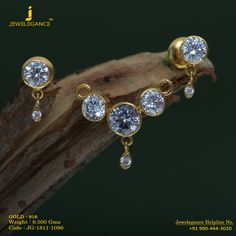 Gold 916 Premium Design Get in touch with us on Jewelry Design Earrings, Gold Earrings Designs, Necklace Designs, Pendant Jewelry, Gold Jewelry, Jewelery, Diamond Jewellery, Jewellery Designs, Pearl Pendant