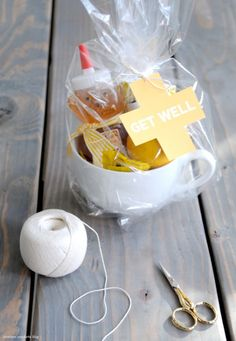 DIY: A Neighborly Get Well Kit   This would be great for Visiting Teaching