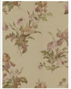 Brewster Kitchen and Bath Resource II Gold Iris Floral Wallpaper - The Home Depot