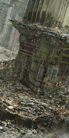 going to cyberpunk mecca - Hong Kong Opportunity: Margin Driver slums. (Babiru by Nivanh Chanthara)Opportunity: Margin Driver slums. (Babiru by Nivanh Chanthara) Cyberpunk City, Arte Cyberpunk, Ville Cyberpunk, Futuristic City, Fantasy Landscape, Sci Fi Fantasy, Fantasy World, Fantasy Fiction, Art Internet